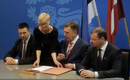 Țările baltice au semnat un acord cu privire la Rail Baltica, linie feroviară ce le va lega de Europa