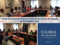 18 OCT. 2017: Prima Reuniune de Afaceri a Clubului de Afaceri din Spania