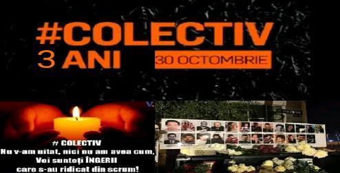 VIDEO: 3 ani de la incendiul din Colectiv. București - mii de persoane au adus un omagiu victimelor