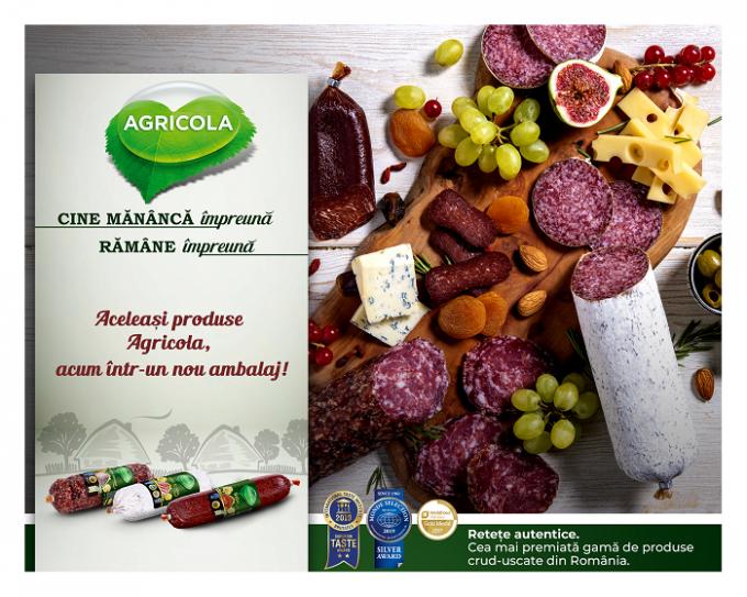 """AGRICOLA are o nouă imagine de brand. Noul slogan AGRICOLA - """"Împreună, la masă"""""""