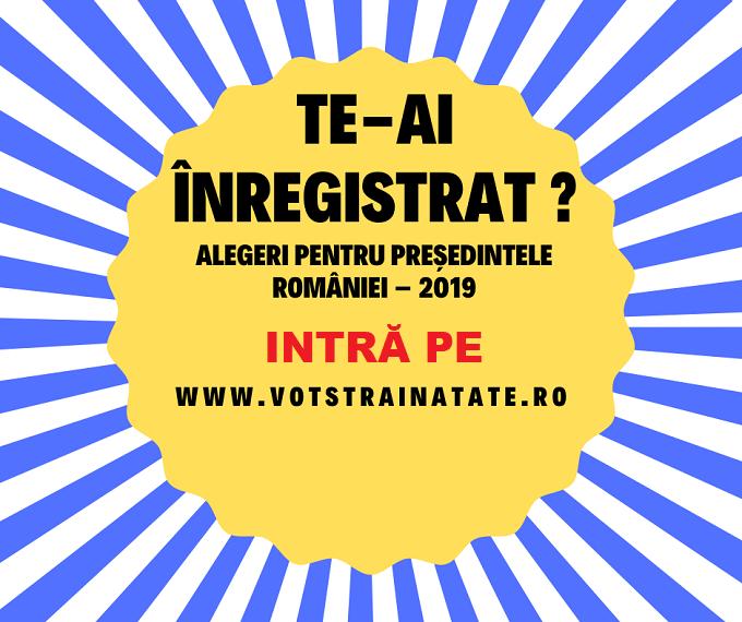 Alegător român în străinătate: Înregistrează-te pe www.votstrainatate.ro, până cel mai târziu la data de 11 Septembrie 2019