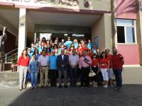 Alumnos de Rumanía y de Fuerteventura en un proyecto Erasmus, organizado en Puerto del Rosario, Fuerteventura