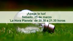 ¡Apaga la luz! Sábado, 25 de marzo – `La Hora Planeta´ – de 20.30 a 21.30 horas