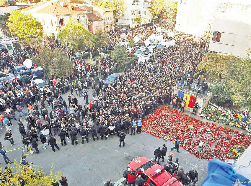 Bilanț Colectiv: 50 de morți; peste 70 de răniți rămân internați în București, 29 sunt internați în străinătate