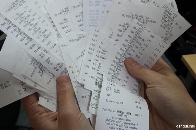 Bonurile câștigătoare la extragerea Loteriei bonurilor fiscale sunt cele din 11 ianuarie cu o valoare de 312 lei