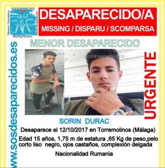 Buscan a un menor rumano de 15 años desaparecido en Torremolinos