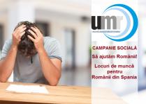 Campanie socială UMR: Să ajutăm Românii-Locuri de muncă pentru Românii din Spania