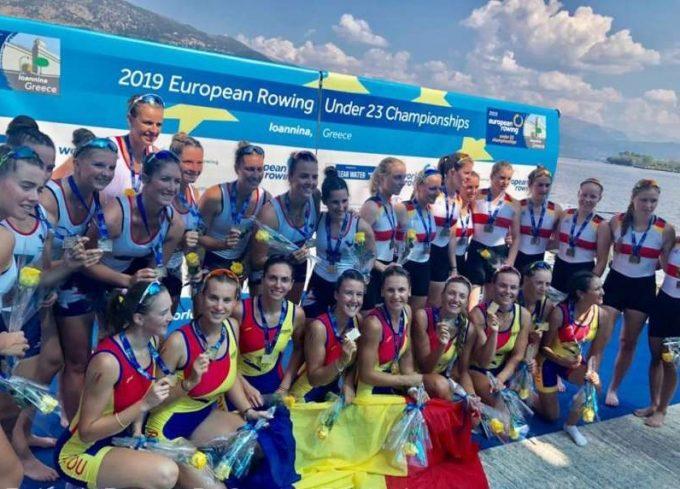 Canotaj: România a cucerit 9 medalii de aur la Campionatele Europene Under 23 din Grecia