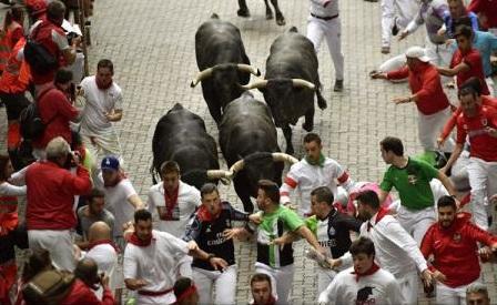 Cel puțin zece răniți în ultima cursă cu tauri de la Pamplona din 2017