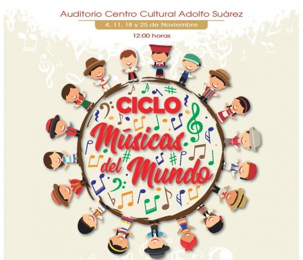 """Ciclo """"MÚSICAS DEL MUNDO"""" Tres Cantos: Un paseo musical por Venezuela, Bolivia, Perú y Rumanía"""