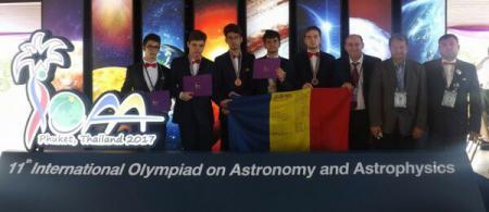 Cinci premii pentru olimpicii români, la Olimpiada Internațională de Astronomie și Astrofizică