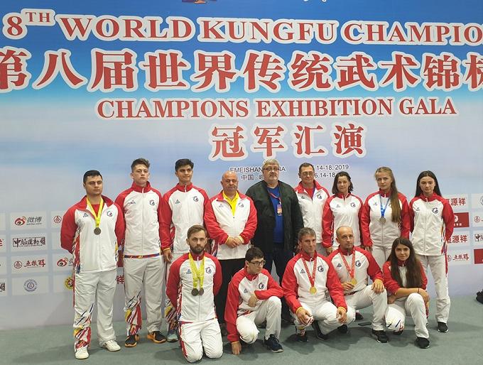 Claudiu Mihăilă, românul din Spania care a luat 2 medalii de AUR la Campionatul Mondial de Kung Fu, Emeishan (China)
