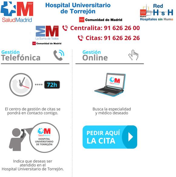 Cum se cere o programare la Spitalul Universitar din Torrejón