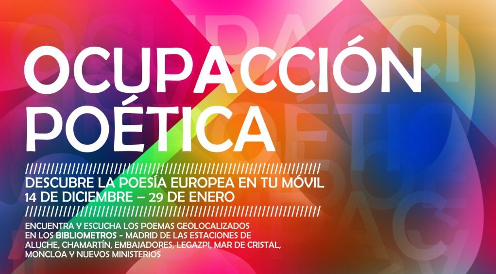 EUNIC España: Ocupación poética – descubre la poesía europea a través de las nuevas tecnologías