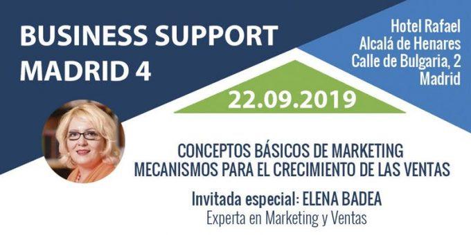 EVENTO, 22 de septiembre de 2019, 10:00h: BUSINESS SUPPORT MADRID IV