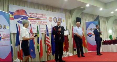 Echipa de descarcerare a ISU Mureș a obținut trofeul mondial la cea mai rapidă echipă în dezvoltare