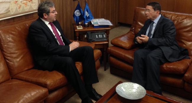 El-Embajador-rumano-ha-sido-recibido-por-el-Sr-Taleb-Rifai-Secretario-General-de-la-OMT-en-visita-de-despedida-con-ocasión-de-la-finalización-de-su-mandato-en-España