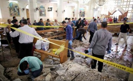 Gruparea Statul Islamic a revendicat cele două atacuri asupra bisericilor creștine din Egipt