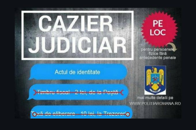 IGPR: Taxa de cazier judiciar nu se mai plăteşte de la 1 februarie