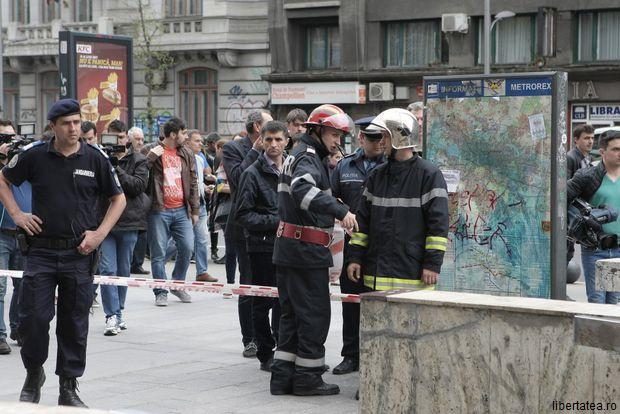 Incendiu la stația de metrou Piața Romană: Focul a fost stins cu rapiditate