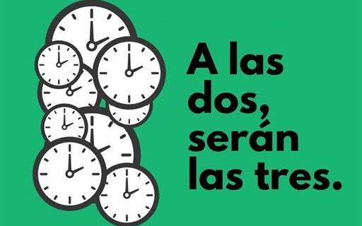 """La madrugada del próximo domingo, 29 de marzo, comienza el """"horario de verano"""""""