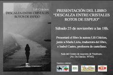 """La presentación de una novela evento """"Descalza entre cristales rotos de espejo"""" autora Lili Crăciun – Rumania"""