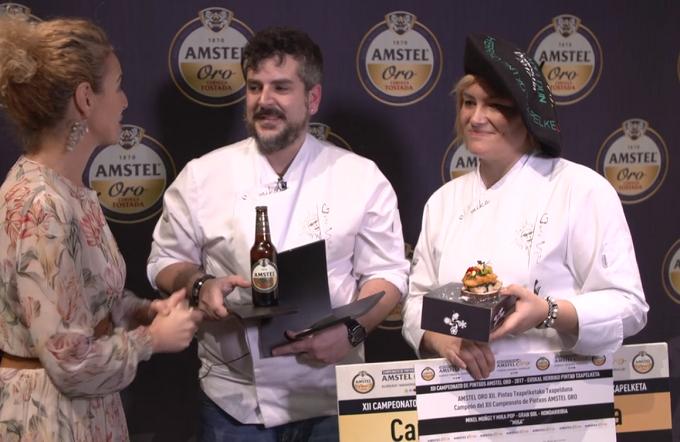 La rumana Jefe de Cocina, Micaela (Mihaela) Pop gana el Concurso Nacional de Pintxos de Valladolid