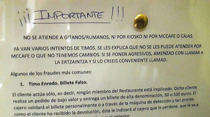 Declarația MAE cu privire la cazul de discriminare a românilor într-un McDonald's din Spania