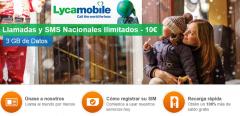 Lycamobile lanza 3 GB y llamadas ilimitadas por 10 € al mes