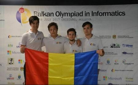 MEN: Olimpicii români au cucerit patru medalii la Balcaniada de Informatică 2017 (seniori)