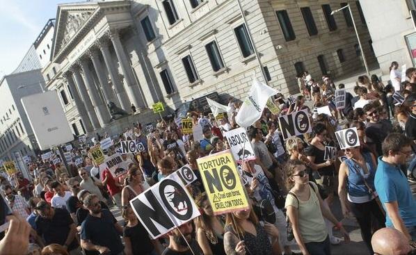 Manifestație la Madrid pentru interzicerea coridelor