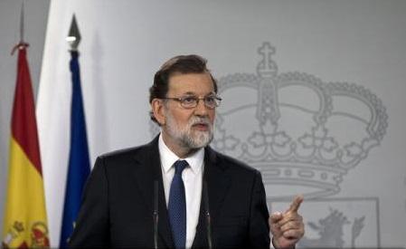 Mariano Rajoy: Restabilirea 'normalității și legalității' în Catalonia, prioritate a guvernului spaniol