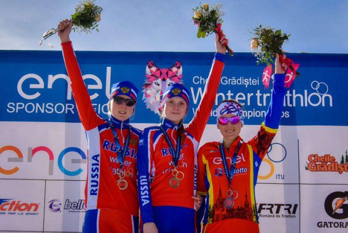 Medalie de bronz pentru România, la Mondialele de triatlon de iarnă
