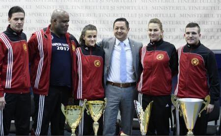 Ministrul Dunca: Mulțumesc Federației Române de Fotbal-Tenis că prin performanța deosebită obținută la Europene promovează România
