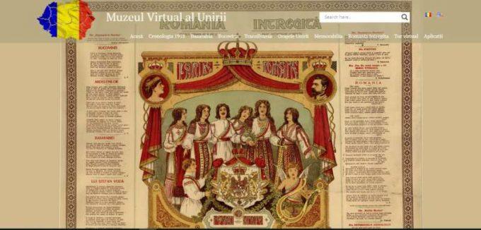 ''Muzeul Virtual al Unirii'' - imagini, documente şi alte mărturii inedite despre evenimentul din 1918