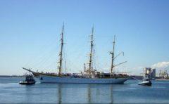 """Nava-școală """"Mircea"""", escală în portul Palma de Mallorca; etapa de instruire a cadeților germani s-a încheiat"""