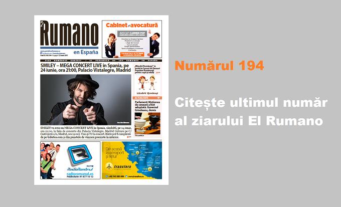 Numărul 194. Citește ultimul număr al ziarului El Rumano