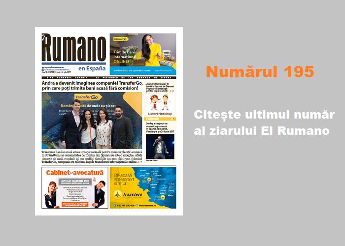 Numărul 195. Citește ultimul număr al ziarului El Rumano