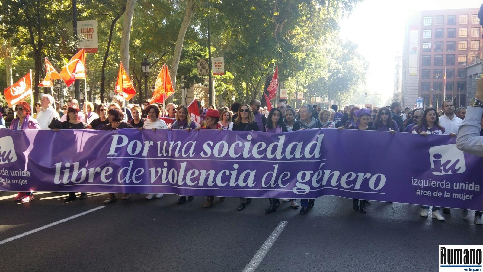 """Numeroase persoane au participat la un protest împotriva violenței la Madrid: """"Violența nu are gen!"""""""