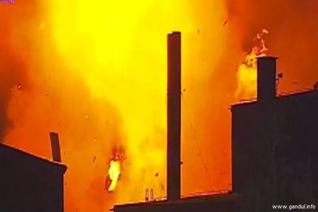 O explozie, urmată de incendiu, a avut loc la o fabrică de pâine din Brașov; 5 răniți au fost transportați la spital