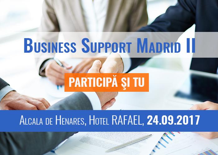 Participă și TU la evenimentul BUSINESS SUPPORT MADRID ediția a II-a