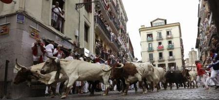 Patru răniți în cea de-a treia zi a Festivalului de la Pamplona