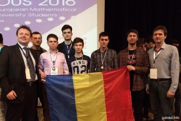 Patru studenţi români, medaliaţi la olimpiada internaţională de matematică