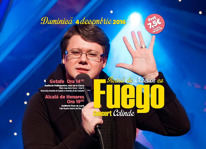 Pe 4 decembrie, artistul Fuego te așteaptă la Concertul Acasă de Crăciun