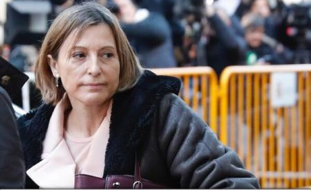 Președinta parlamentului catalan a fost eliberată de instanță, pe cauțiune