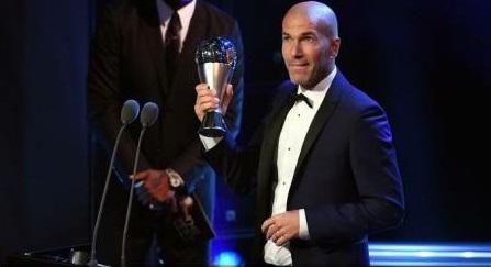 Premiile The Best FIFA - Zinedine Zidane, cel mai bun antrenor al anului 2017