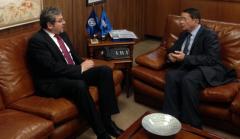 Primirea ambasadorului român de către dl. Taleb Rifai, Secretar General al OMT, în vizită de rămas bun, cu ocazia finalizării mandatului în Spania
