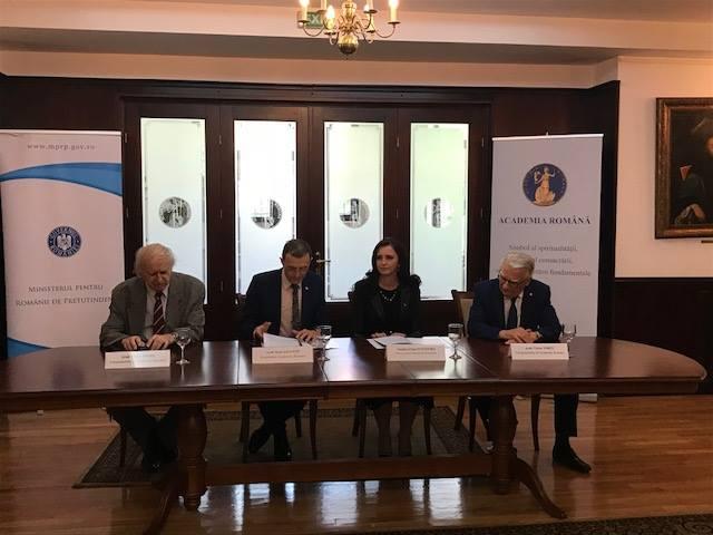 Protocol de colaborare între Ministerul pentru Românii de Pretutindeni şi Academia Română
