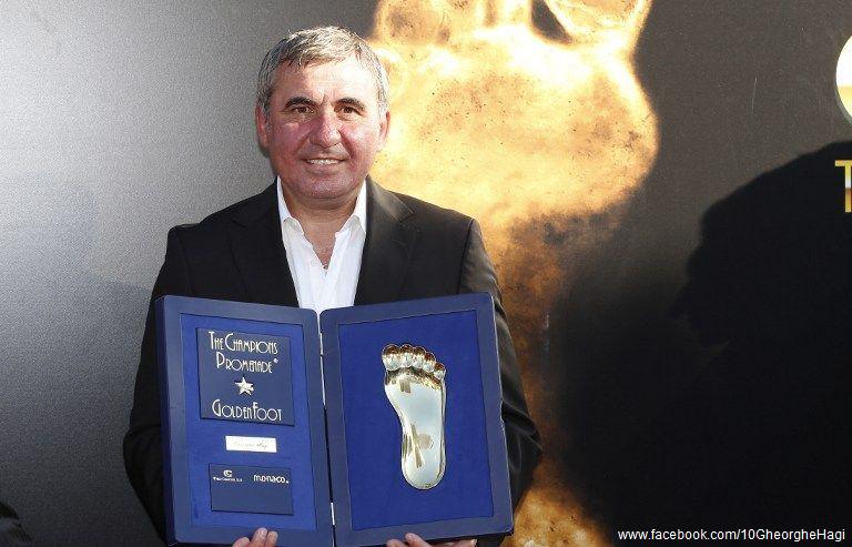 Regele fotbalului românesc, Gheorghe Hagi, premiat cu trofeul Golden Foot