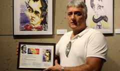 Rumanía distingue al artista Néstor Dámaso del Pino, el caricaturista grancanario